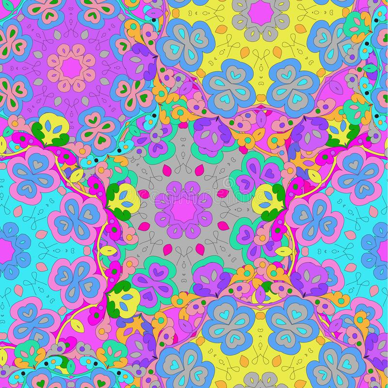 Colorful seamless pattern mandala, can be used for wallpaper, pattern fills stock illustration