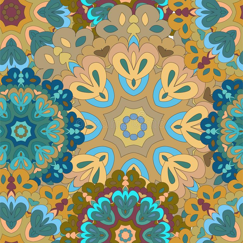 Colorful seamless pattern mandala, can be used for wallpaper, pattern fills, web page background, surface textures. vector illustration