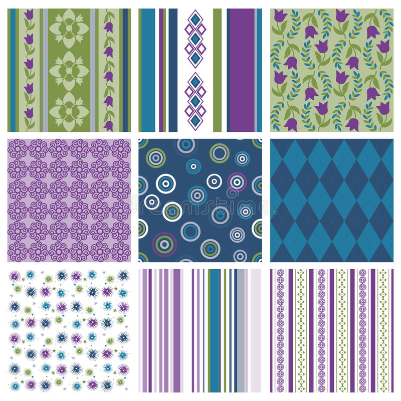 Download Colorful seamless patterns stock vector. Illustration of repeat - 16118416