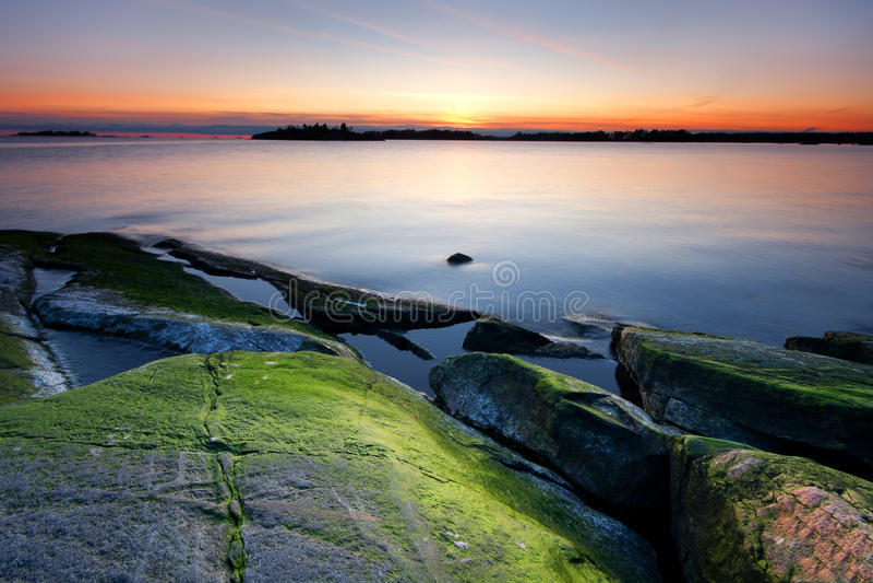 Colorful seascape stock photo