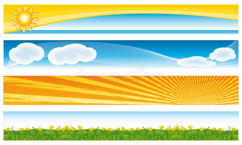 Colorful seasonal banners. Fresh collection stock illustration