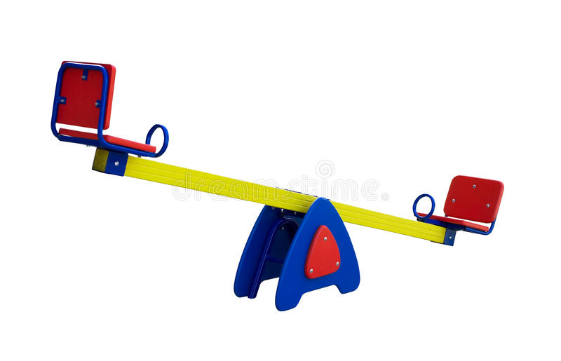 Download Colorful seesaw stock image. Image of color, isolated - 11484387