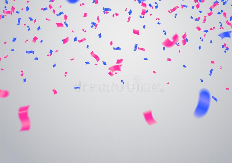 Colorful serpentine and confetti isolated on background. Vector illustration vector illustration