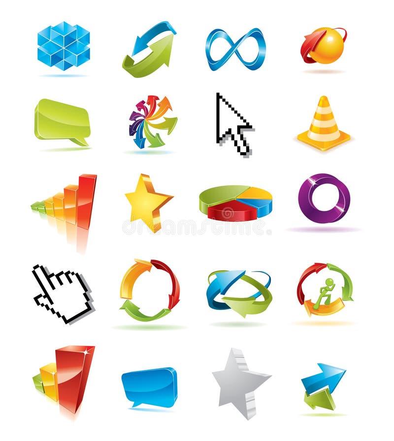 Colorful set of design elements