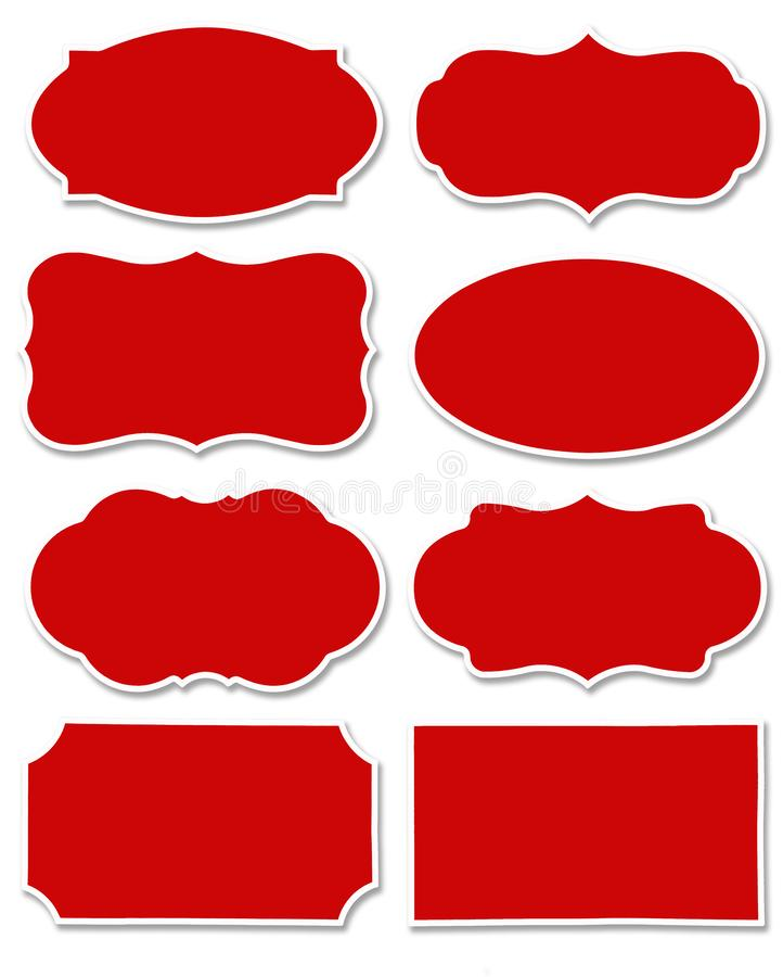 Colorful set of different speech bubble as a cloud isolated on empty white background royalty free illustration