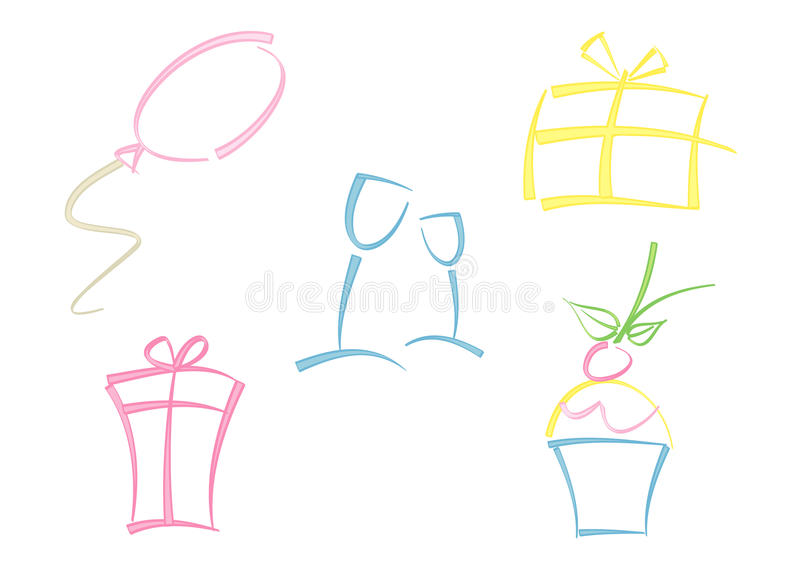 Download Colorful Set Of Party Icons Stock Vector - Image: 18209246