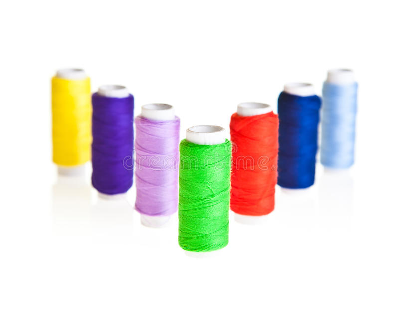 Colorful Sewing Threads Royalty Free Stock Photo