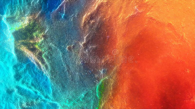 Colorful shaky abstract motion background. Abstract colorful particles background animation. Moving spheres. Colorful shaky abstract motion background. Abstract royalty free stock photography