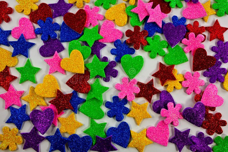 Colorful Shapes Background Stock Image