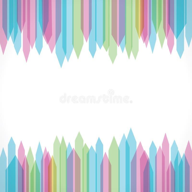 Colorful Sharp Edge Strip Background Stock Photos