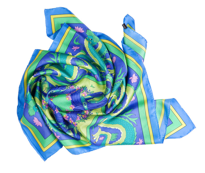 Colorful shawl royalty free stock photos