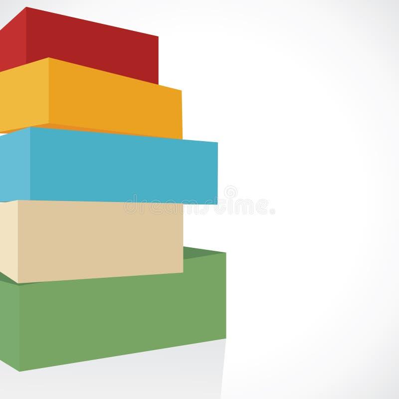 Colorful Shiny Blocks Stock Photos