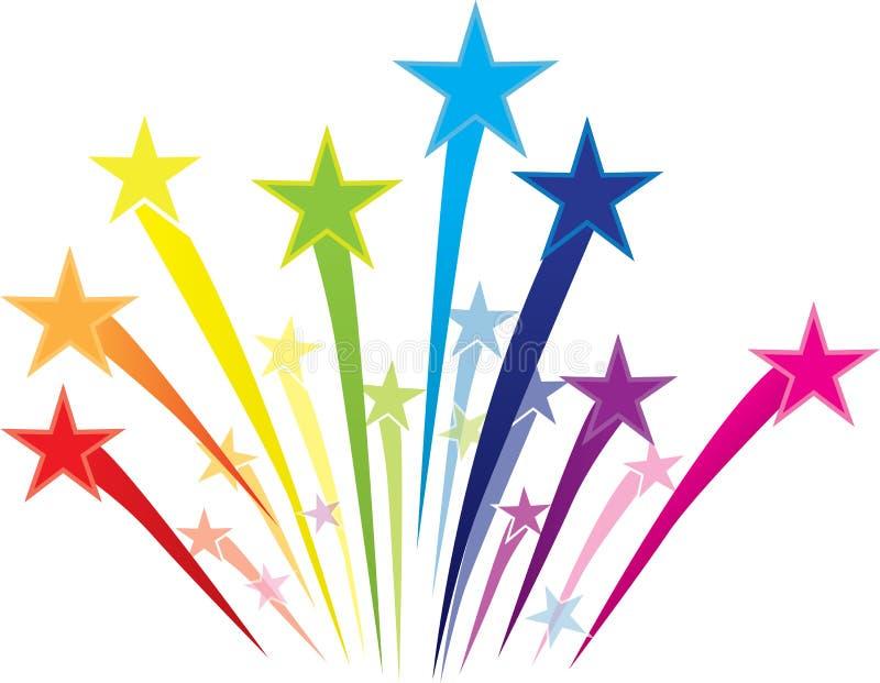 Colorful Shooting Star Logo Stock Illustration