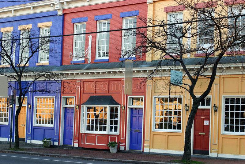 colorful shops στοκ εικόνες