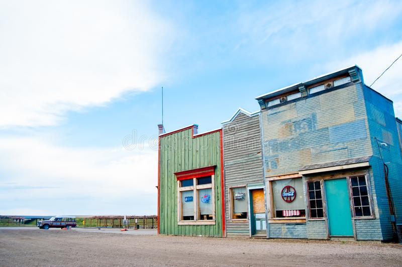 Colorful shops in the country side of America. America is a continent where American mainly live. royalty free stock photo
