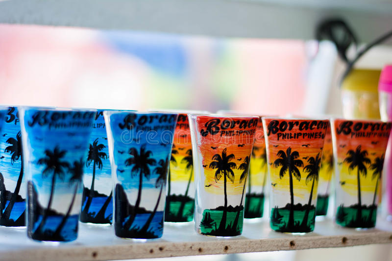 Colorful shot glass royalty free stock images
