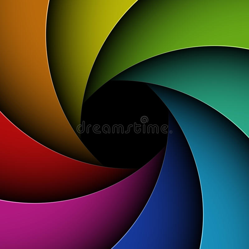 Download Colorful shutter aperture stock vector. Image of photographic - 27702346