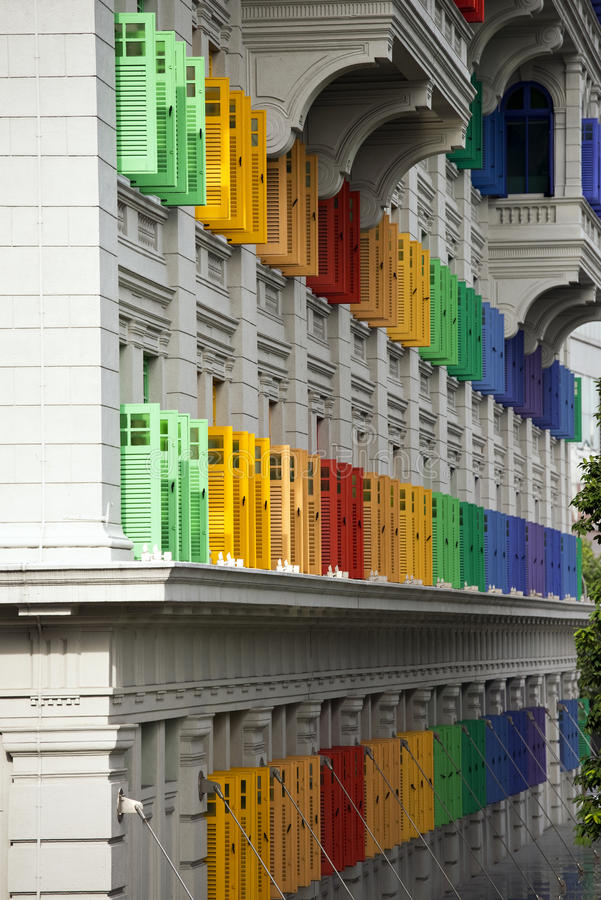 Free Colorful Shutters Stock Images - 43061634