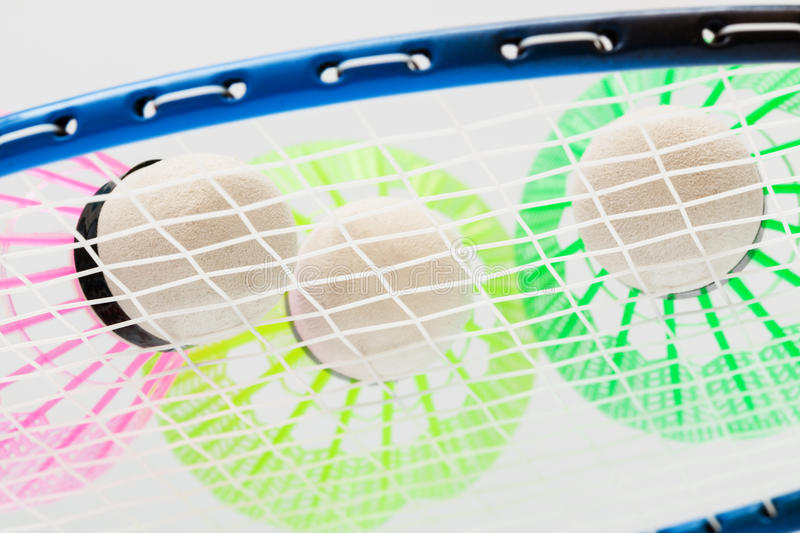 Colorful shuttlecocks for badminton royalty free stock images