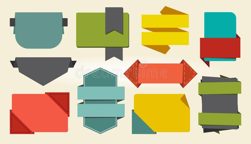 Colorful Signs and Badges Icon Vector Illustration vector illustration