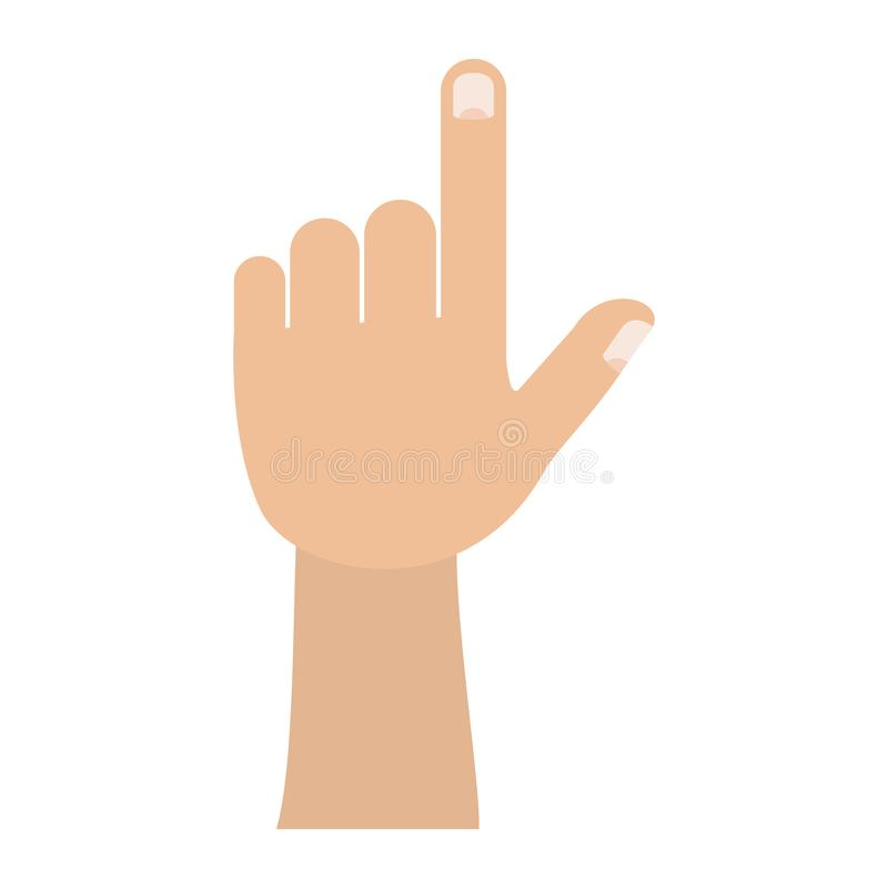 Colorful silhouette image of left hand gesture. Vector illustration vector illustration
