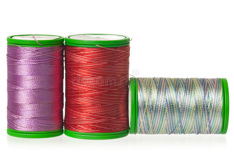 Colorful silk threads royalty free stock images