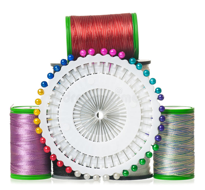 Colorful silk threads royalty free stock image