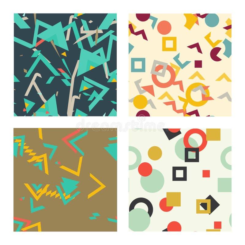 Colorful simple seamless pattern, vintage texture stock illustration