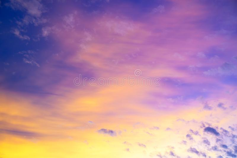 Colorful sky  twilight sky after sunset with clouds for background.  stock photos