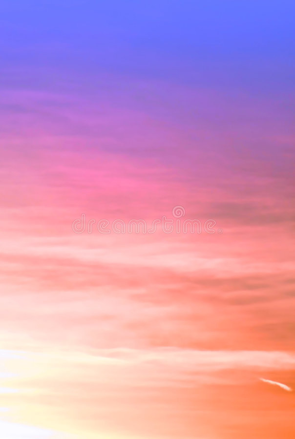 Colorful sky background stock photography