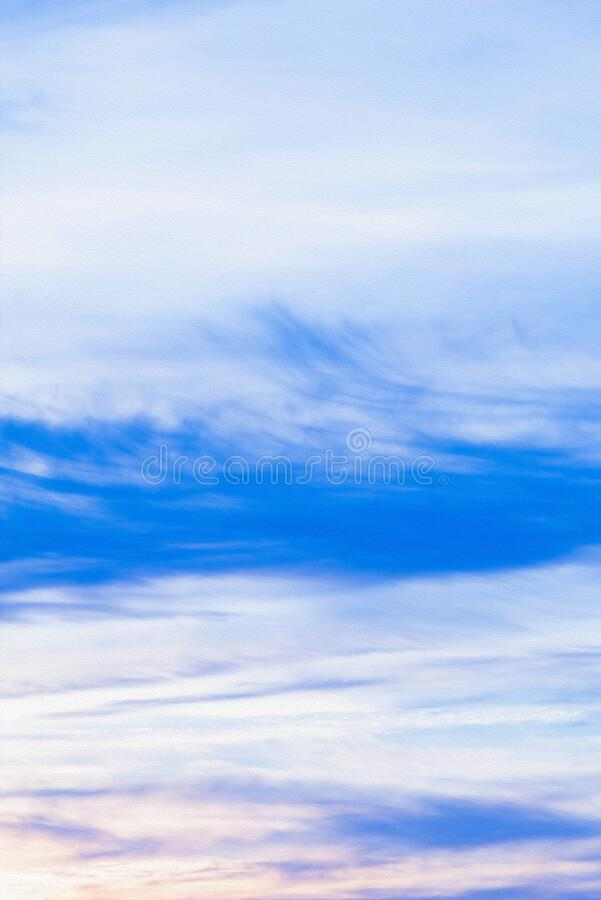 Colorful sky, beautiful clouds. abstraction in the form of sky clouds of different colors. Colorful sky, beautiful clouds in the sky with overflows. abstraction royalty free stock photo