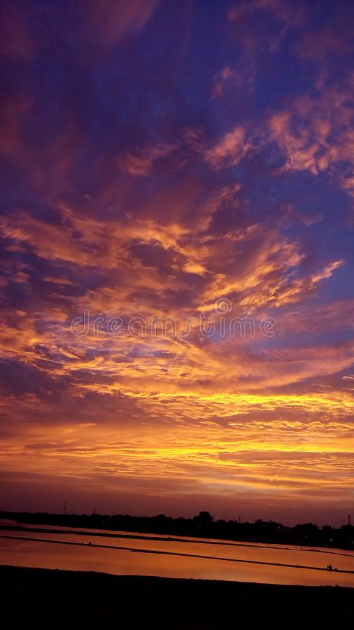 Colorful Sky & clouds royalty free stock photo