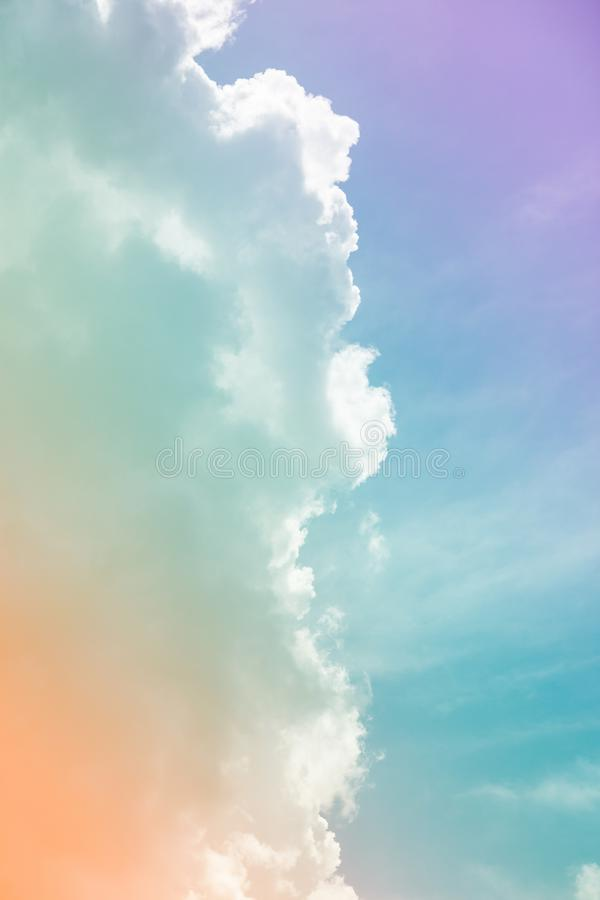 Colorful sky and clouds. & x28;heaven. Abstract, background, beautiful, beauty, blue, bright, cloudy, freedom, landscape, light, nature, pastel, pink, summer royalty free stock photography
