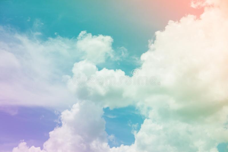 Colorful sky and clouds. & x28;heaven. Abstract, background, beautiful, beauty, blue, bright, cloudy, freedom, landscape, light, nature, pastel, pink, summer stock photography