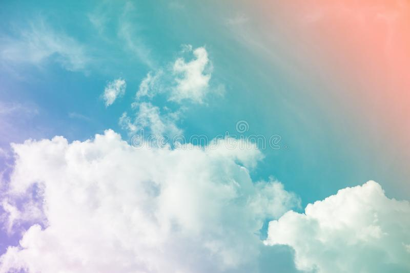 Colorful sky and clouds. & x28;heaven. Abstract, background, beautiful, beauty, blue, bright, cloudy, freedom, landscape, light, nature, pastel, pink, summer royalty free stock photo