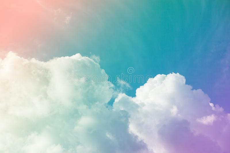 Colorful sky and clouds. & x28;heaven. Abstract, background, beautiful, beauty, blue, bright, cloudy, freedom, landscape, light, nature, pastel, pink, summer stock photos