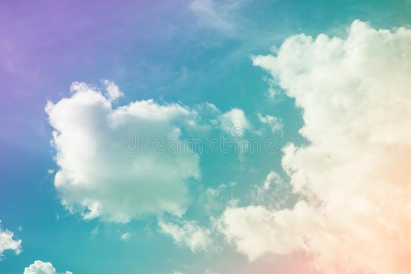 Colorful sky and clouds. & x28;heaven. Abstract, background, beautiful, beauty, blue, bright, cloudy, freedom, landscape, light, nature, pastel, pink, summer stock photo
