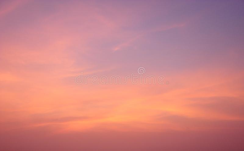 Colorful sky at Dawn - Abstract Background royalty free stock images