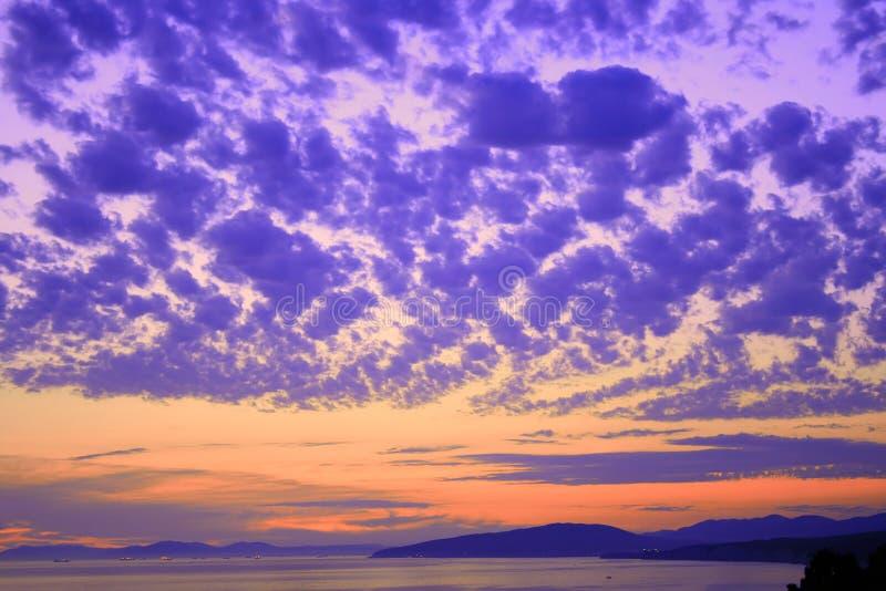 Colorful sky scene royalty free stock photo