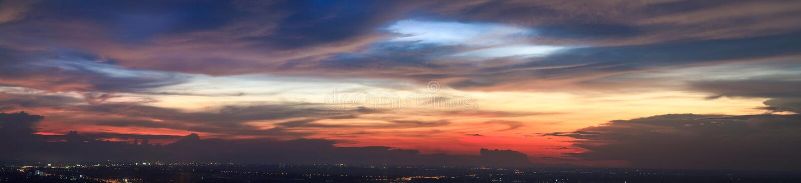 The colorful sky during sunset royalty free stock image