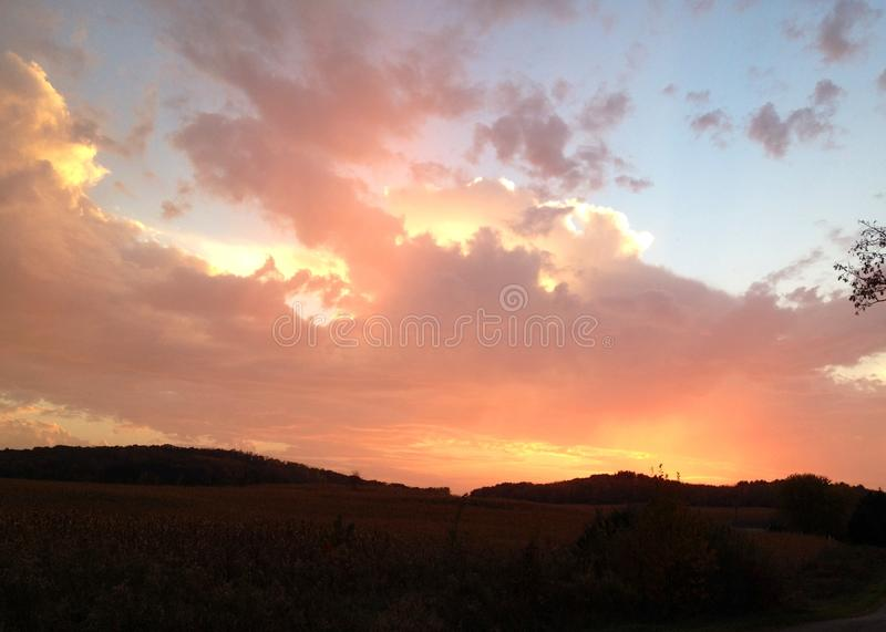 Colorful sky royalty free stock images