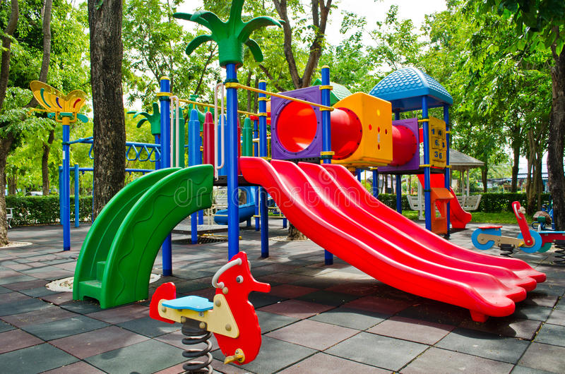 Download Colorful slider stock image. Image of playground, nobody - 25149769