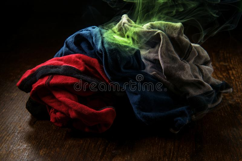 Colorful Smelly Underwear Laundry stock image