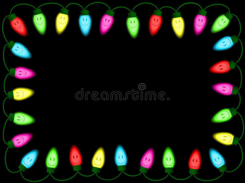 Download Colorful Smiley Christmas/party Lights Border Stock Vector - Image: 7036744