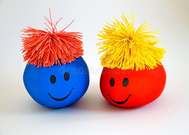 Colorful Smiley Faces-1 Stock Photos