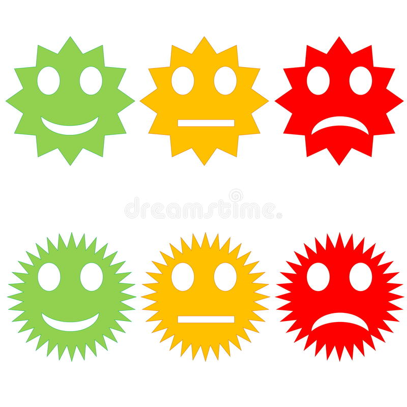 Colorful smileys vector illustration