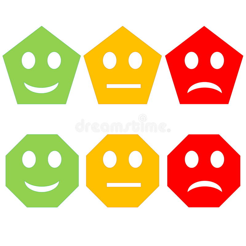 Colorful smileys royalty free illustration