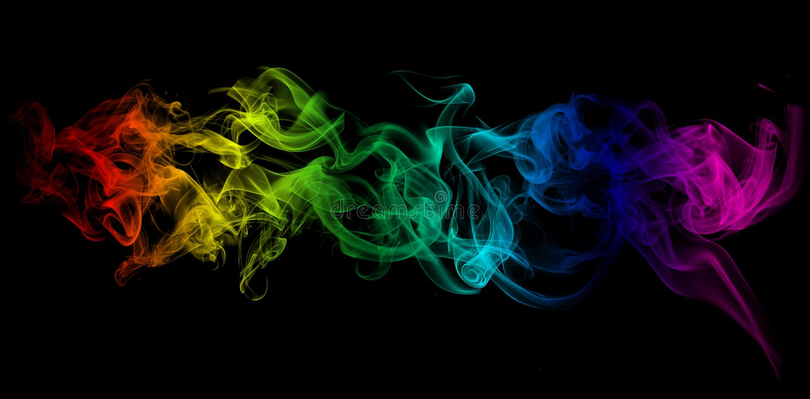 Colorful Smoke Royalty Free Stock Photo