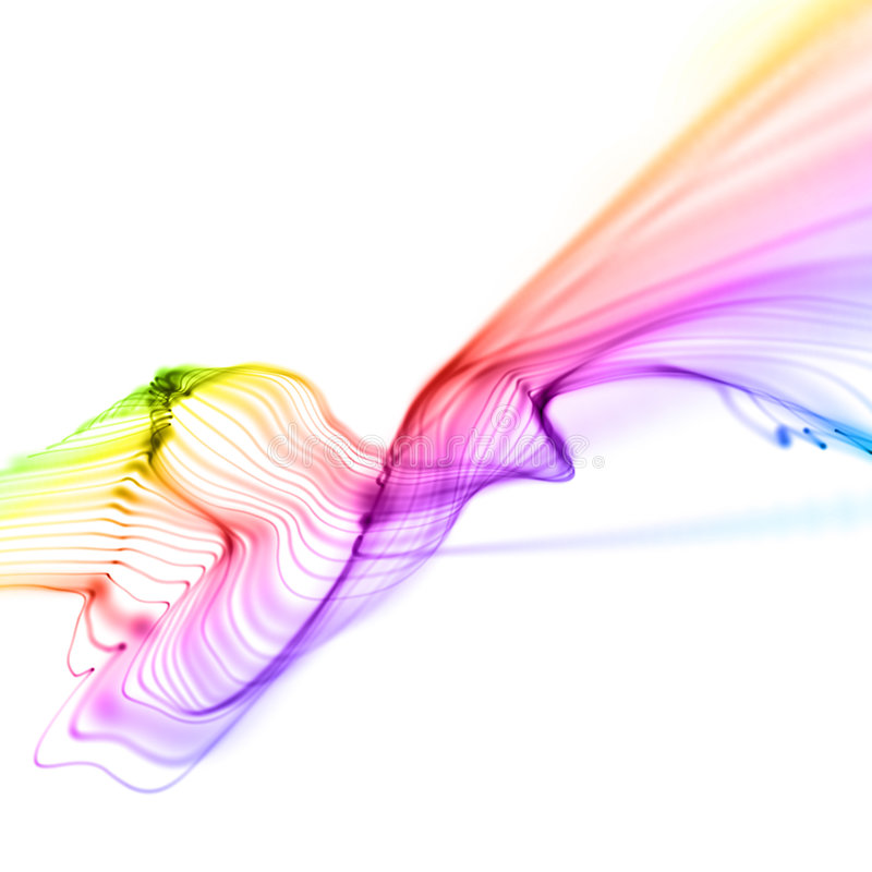 Download Colorful Smooth Linear Waves Isolated Over White Stock Illustration - Image: 8439939
