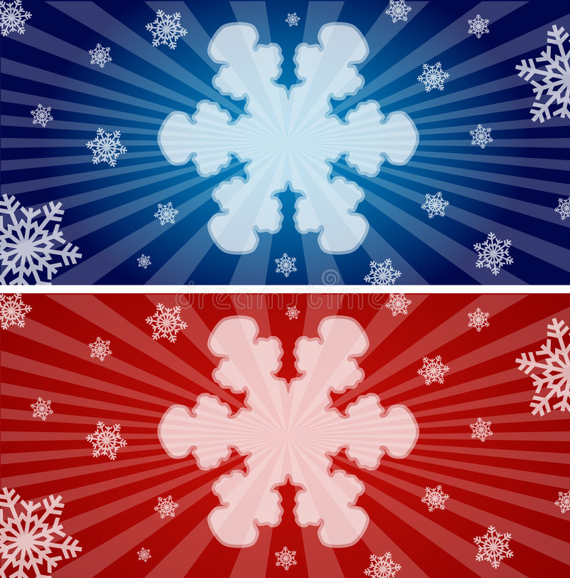 Free Colorful Snowflake Banners Stock Image - 7186931